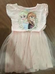 Título do anúncio: Vestido frozen rosa bebe