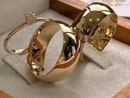 Aliança de ouro 18 com ótimo acabamento com garantia permanente