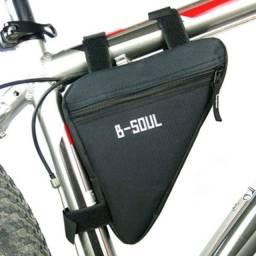 Título do anúncio: Bolsa de quadro para bike bicicleta. Muito espaçoso. Top!