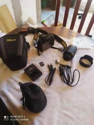 Título do anúncio: Câmera Profissional Nikon D7000 + KIT Completo.