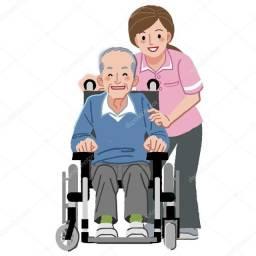 Título do anúncio: Cuido de idosos e faço acompanhamento hospitalar