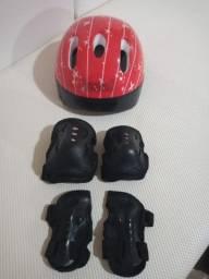 Kit De Proteção Infantil Bel Sports Vermelho