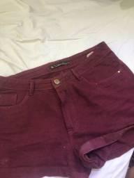 Título do anúncio: Short jeans valentin vinho 46