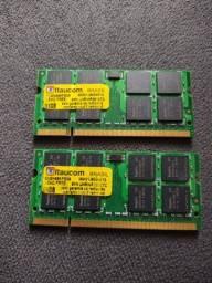 02 Memórias Itaucom DDR2 PC5300 1Gb 667MHz