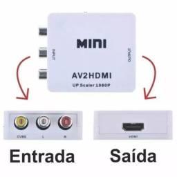 Conversor Av Para Hdmi Rca Audio E Video Full Hd 1080p