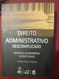 Título do anúncio: Direito administrativo descomplicado