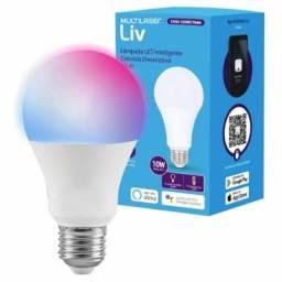 Título do anúncio: Lâmpada LED Inteligente Bulbo Multilaser Colorida Dimerizável Wi-Fi SE224