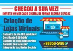 Criação de Lojas Virtuais com Dominio grátis!