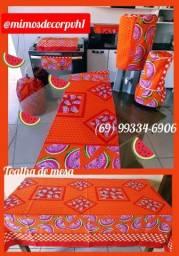 Jogos de cozinha com toalha de mesa