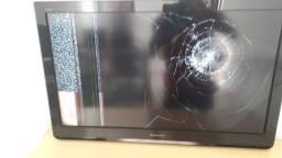 tv smart panasonic tela quebrada