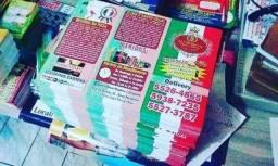 oferta 5000 Panfletos Cardápios 20x29cm A4 90gr 619,00 p/ 10.000un 1059,00 Pizzarias