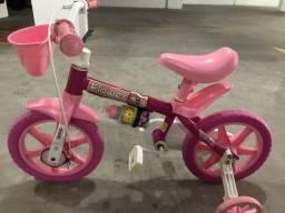 Título do anúncio: Bicicleta infantil flower rosa aro 12