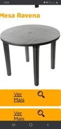 Mesas e cadeiras plastica