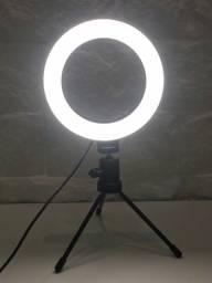 Título do anúncio: Ring Light 16cm, acompanha tripé de mesa!