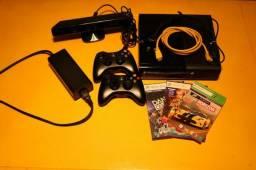 Xbox 360 - 500GB, 2 controles, kinect, jogos