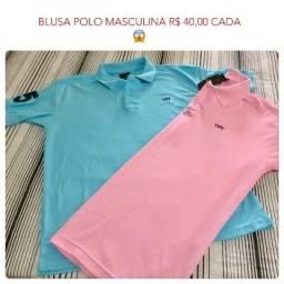 Camisa Polo e Camisas masculinas Novas