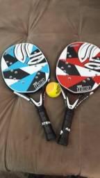 2 raquete de beach tennis