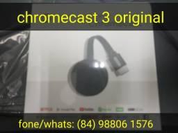 Deixe sua tv smart chromecast 3 original