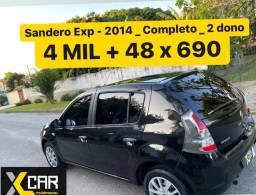 Sandero Exp 1.0 - 2014 _ Pouco Rodado _ 2º Dono _ Completo