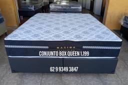 Conjunto box queen de 1.599 agora por apenas 1.199 a vista