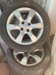 Rodas aro 16 c pneus modelo Peugeot 307