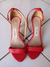 Sandália de salto,usado