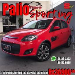 Smart Veículos - Fiat Palio Sporting 1.6, 13/2014, 35.181 Km. R$ 36.900,00