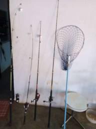 Varas de pescas todas as varas com mulinetes
