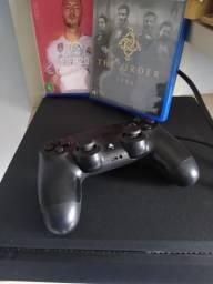 PS4 Slim + FIFA 2020 e outro jogo