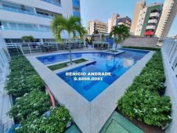 Apartamento com 3 suítes, nascente, projetado e mobiliado no bairro Luciano Cavalcante