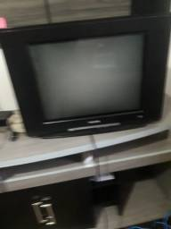 Tv philips,tela plana, 21 polegadas