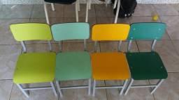Carteiras escolares infantil com mesa