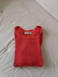 Blusa Zara fem em crochê Tam M