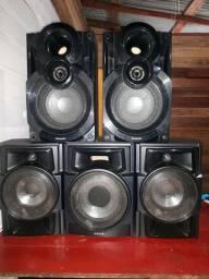 5 caixas de som