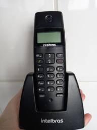 Telefone sem fio preto - escritório
