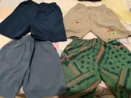 4 quatro shorts de criança de um ano