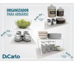Organizador para Prateleira de Armário de Cozinha - 7 Peças - 100% Aço