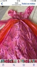 Vestido Barbie castelo de diamantes
