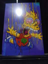 6 Quadros mdf Simpsons