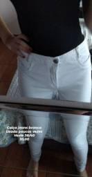 Calça branca jeans