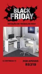 Promoção Black Friday! Estação de trabalho Max branca c/ entrega grátis