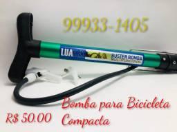 Bomba de Inflar Compacta para Bike e Bola