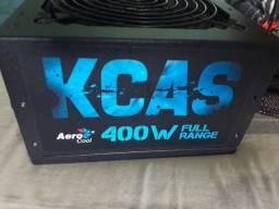 Fonte KCAS 400w AeroCool Bivolt Automático