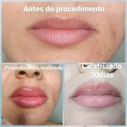 Micropigmentação lábial
