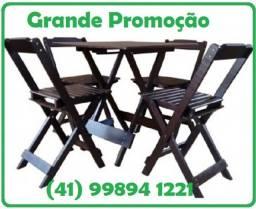 Título do anúncio: Conjuntos dobráveis de mesa com cadeiras - fabricamos