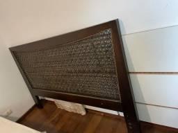 Cabeceira de madeira para cama super king
