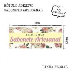 Título do anúncio: 50 Etiquetas Rótulos Adesivos Sabonete Artesanal