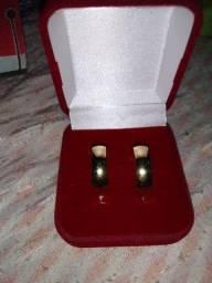 Par de aliança prata banho de ouro 18k