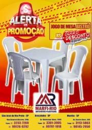 Título do anúncio: Vende se novo jogos jogo de mesa mesas e cadeira cadeira plastica