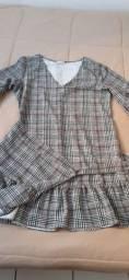 Vestido com transpassado